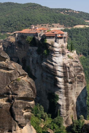thessaly: Holy monastery of Vaarlam in Meteora, Thessaly, Greece  Stock Photo