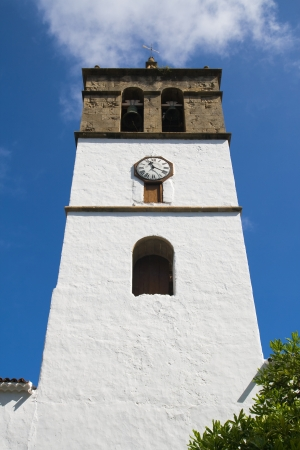marcos: Bell tower of the church of San Marcos in Icod de los Vinos, Tenerife, Canary Islands