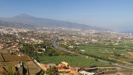 mirador: La Orotava Valley from Mirador de Humboltd, tenerife, Canary Islands