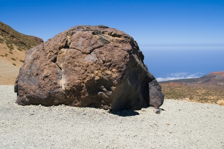 accretion: An accretion ball, a rock formed of solidified lava, on the slopes of Mount Teide, Tenerife, Canary Islands