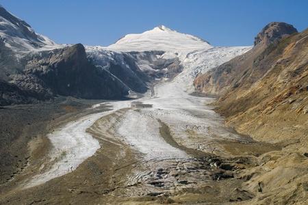 hohe tauern: Johannisberg summit and Pasterze glacier in the Hohe Tauern National Park, Austria. Stock Photo