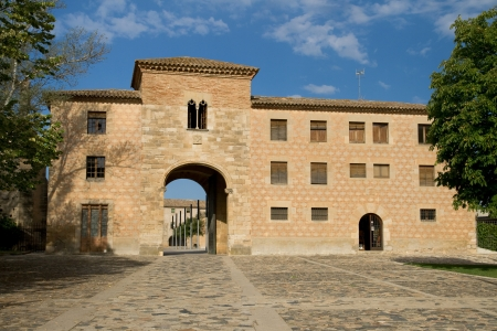 cistercian: Entrance to the monastic site of Poblet, Catalonia