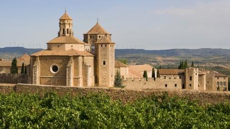 monastic sites: The twelfth century Cistercian monastery of Santa Maria de Poblet, Catalonia