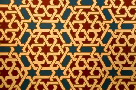 mudejar: Tile in mudejar style in the Alfajeria palace in Saragossa, Spain