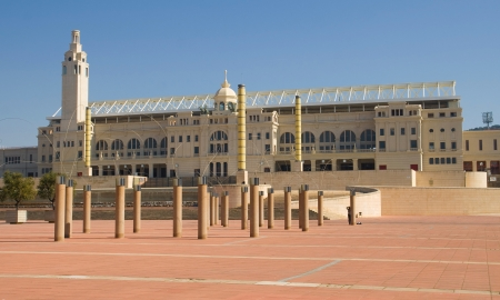 The Olympic Stadium of Barcelona, Spain  Originally built in 1927, it was renovated in 1989 to be the main stadium for the 1992 Summer Olympics