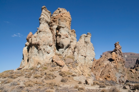 vulcanology: Volcanic chimneys at the foot of mount Teide in Tenerife, Canary Islands