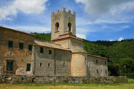 abbazia: Abbazia di San Lorenzo a Coltibuono in Gaiole in Chianti, Tuscany, Italy