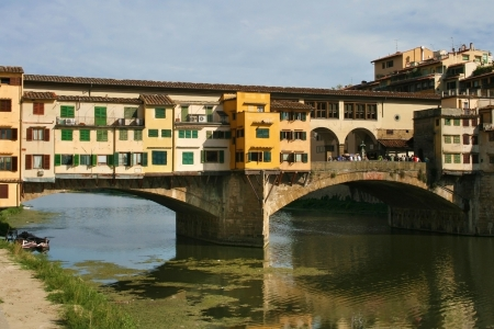 Ponte Vecchio over the Arno river in Florence, Italy  photo