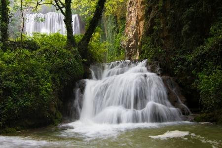 aragon: Waterfall in the Monasterio de Piedra  Piedra Monastery  park, Saragossa, Aragon, Spain