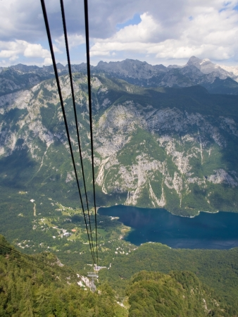 bohinj: Lake Bohinj from the cable car of Vogel, Slovenia