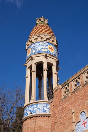 Small dome in a pavilion of the Hospital de Sant Pau, Barcelona Editorial