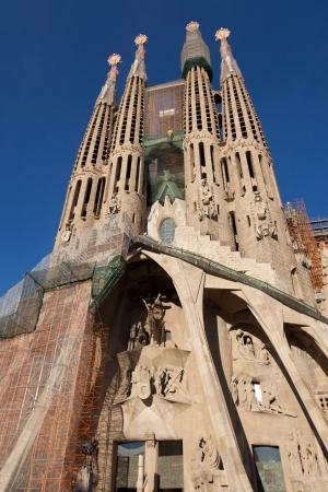 Facade of the Passion of the Sagrada Familia, Barcelona