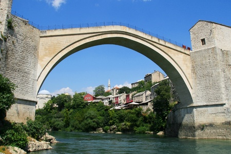 Stari Most  Old Bridge  in Mostar, Bosnia and Herzegovina  photo