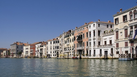 sestiere: Houses on the shore of Grand Canal in the Sestiere Cannaregio, Venice, Italy