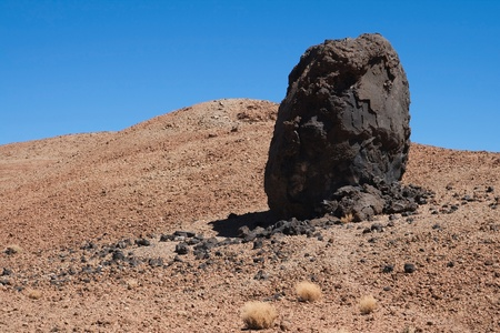 solidified: Egg of El Teide, accretion ball formed of solidified lava, on the slopes of Mount Teide, Tenerife, Canary Islands  Stock Photo