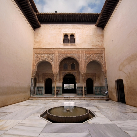Patio del Mexuar in La Alhambra, Granada, Spain