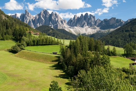 odle: Valley of Villnoss in South Tirol, Italy  Stock Photo