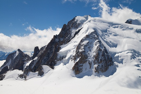 massif: Mont Blanc du Tacul in the Mont Blanc massif of the French Alps