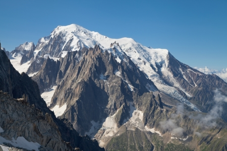 massif: Mont Blanc massif from Grands Montets, Argentiere, France