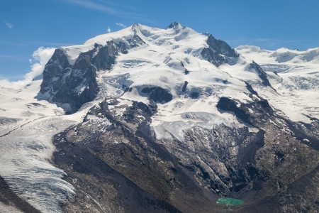 Monte Rosa  4634m  in the Pennine Alps from Gornergrat, Switzerland  photo