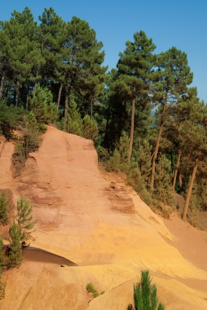 the luberon: Sentier des Ocres  Ochres Path  at Roussillon, Luberon, Provence, France  Stock Photo