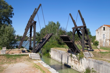 arles: Pont Langlois, a drawbridge in Arles, Provence, France