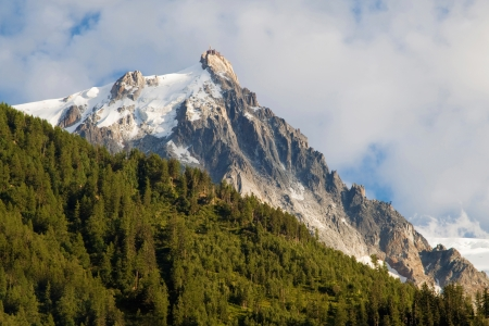 midi: Aiguille du Midi at dusk from Chamonix, Haute-Savoie, France