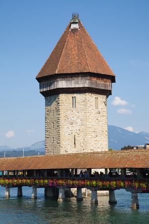 wody wieży: Water Tower  Wasserturm  in Lucerne, Switzerland