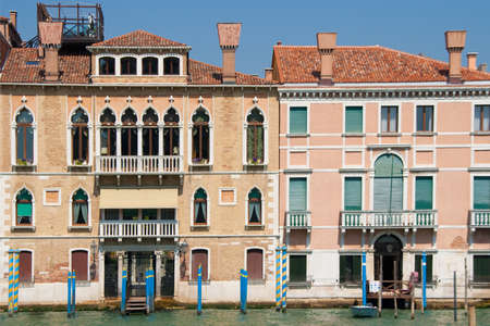 sestiere: Houses on Grand Canal in Sestiere San Marco, Venice, Italy