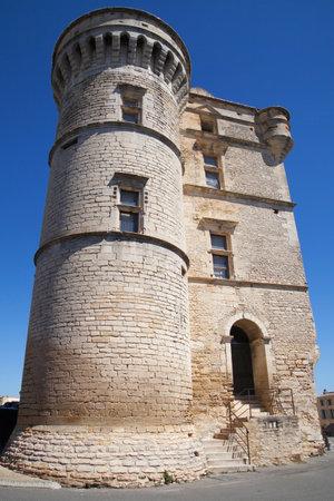 gordes: Gordes Castle in theLuberon, Provence, France  Editorial