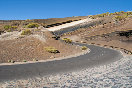 stratification: La Tarta, volcanic stratification in Tenerife, Canary Islands