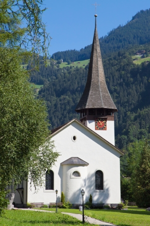 canton berne: Lauterbrunnen village church, Berne Canton, Switzerland