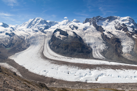 Gorner glacier in the Swiss Alps  photo