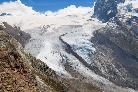 swiss alps: Monte Rosa Glacier in the Swiss Alps