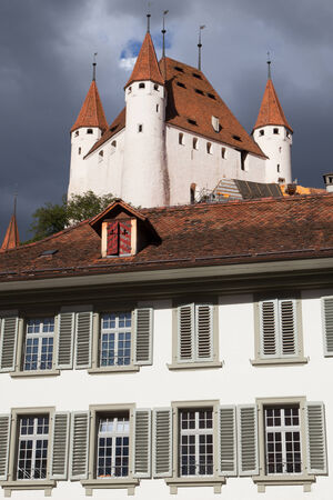 bernese oberland: Thun Castle seen from City Hall, Bernese Oberland, Switzerland