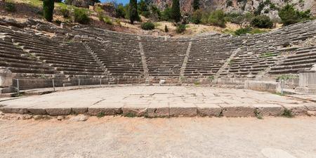 teatro antico: Teatro Antico di Delfi, Focide, Grecia Archivio Fotografico
