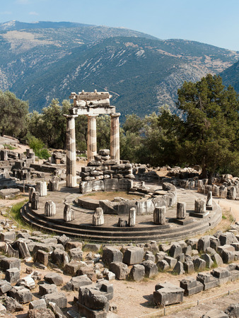 Tholos Temple at Sanctuary of Athena Pronaia in Delphi, Greece  photo