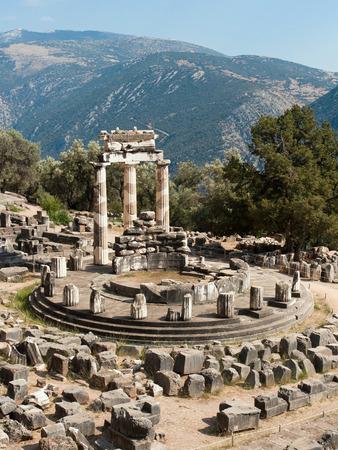 Tholos Temple at Sanctuary of Athena Pronaia in Delphi, Greece  photo
