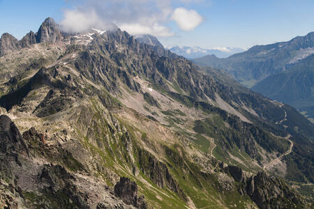Aiguilles Rouges from the summit of Brevent, Haute-Savoie, France