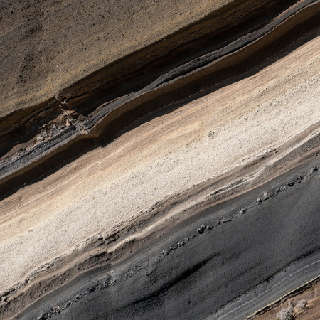 stratification: Volcanic stratification of Montana La Negrita, Tenerife, Canary Islands, Spain