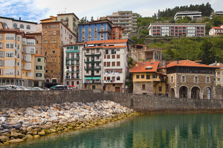 vizcaya: Fishing village of Mutriku on the Biscay coast, Basque Country. Stock Photo