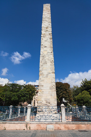 Constantine Obelisk in Sultanahmet Square, Istanbul, Turkey. photo