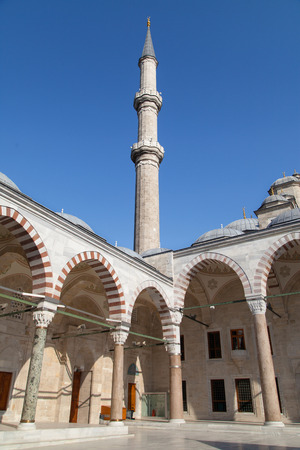 mehmed: Minaret from the courtyard of the Fatih Mosque, Istanbul, Turkey.