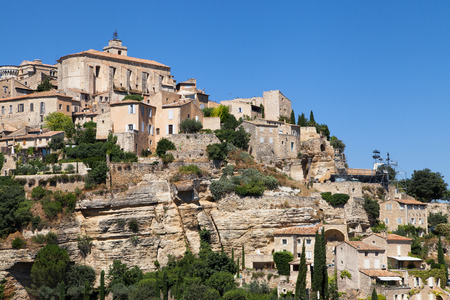 gordes: Perched village of Gordes in the Luberon, Provence, France. Stock Photo
