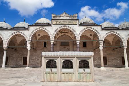 Courtyard of the Suleymaniye Mosque in Istanbul, Turkey. photo