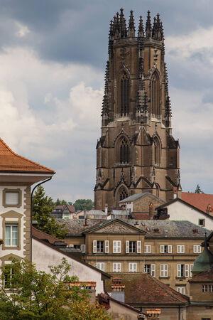 'saint nicholas': Cathedral of Saint Nicholas in Fribourg, Switzerland.