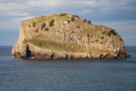 biotope: Aquech Island, part of the protected biotope of Gaztelugatxe, Basque Country, Spain.