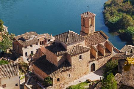 ebre: Old Church of Miravet, Catalonia.