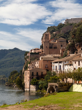 ebre: Old village of Miravet on the banks of Ebro river in Catalonia.
