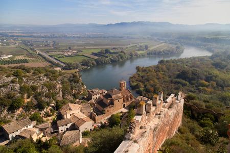 ebre: Landscape around Miravet in Catalonia.